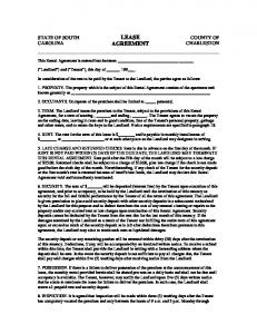 LEASE AGREEMENT. This Rental Agreement is entered into between