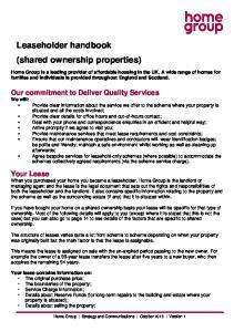 Leaseholder handbook (shared ownership properties)