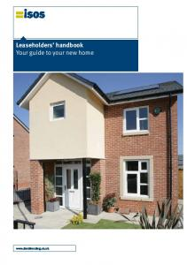 Leaseholders handbook Your guide to your new home
