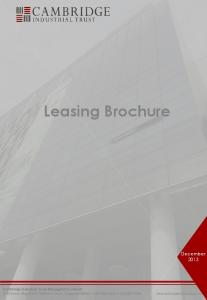 Leasing Brochure. December Cambridge Industrial Trust Management Limited