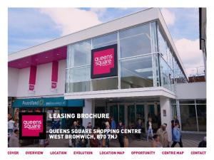 LEASING BROCHURE QUEENS SQUARE SHOPPING CENTRE WEST BROMWICH, B70 7NJ