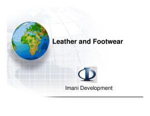 Leather and Footwear. Imani Development