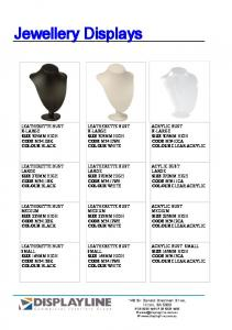 LEATHERETTE BUST X-LARGE SIZE 305MM HIGH CODE M3410WH COLOUR WHITE LEATHERETTE BUST LARGE SIZE 270MM HIGH CODE M3411WH COLOUR WHITE LEATHERETTE BUST