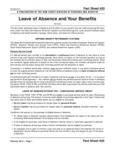 Leave of Absence and Your Benefits