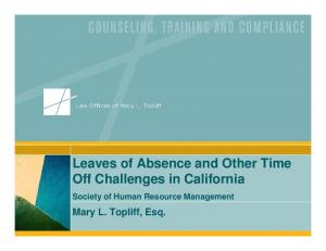 Leaves of Absence and Other Time Off Challenges in California
