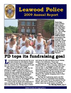 Leawood Police 2009 Annual Report