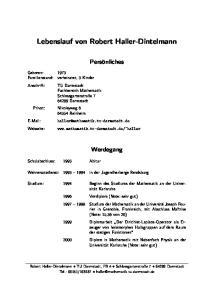 Lebenslauf von Robert Haller-Dintelmann