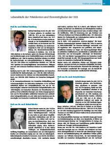 Lebensläufe der Präsidenten und Ehrenmitglieder der DGS