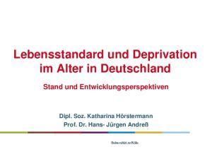 Lebensstandard und Deprivation im Alter in Deutschland