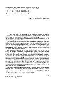 LECCIONES DE DERECHO CONSTITUCIONAL *