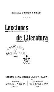 Lecciones de Literatura