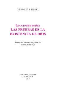 Lecciones sobre LAS PRUEBAS DE LA EXISTENCIA DE DIOS