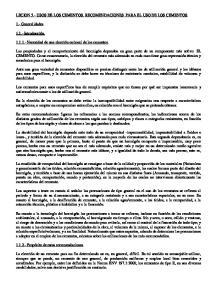 LECION 5.- USOS DE LOS CEMENTOS. RECOMENDACIONES PARA EL USO DE LOS CEMENTOS