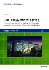 LECO Energy efficient lighting