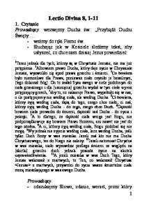 Lectio Divina 8, 1-11