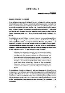 LECTIO DIVINA - II DIALOGO ENTRE DIOS Y EL HOMBRE