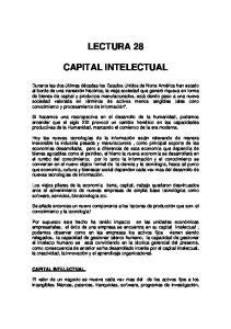 LECTURA 28 CAPITAL INTELECTUAL