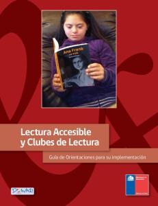 Lectura Accesible y Clubes de Lectura