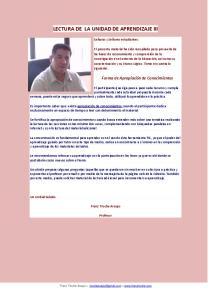 LECTURA DE LA UNIDAD DE APRENDIZAJE III