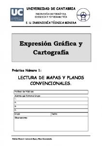 LECTURA DE MAPAS Y PLANOS CONVENCIONALES