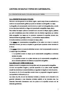 LECTURA DE MAPAS Y TIPOS DE CARTOGRAFIA