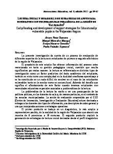 LECTURA INICIAL Y DESARROLLO DE ESTRATEGIAS DE APOYO PARA