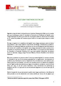 LECTURA Y NATIVOS DIGITALES 1