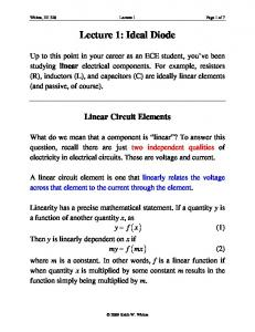 Lecture 1: Ideal Diode
