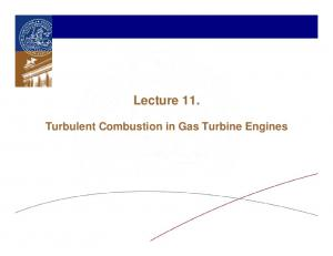 Lecture 11. Turbulent Combustion in Gas Turbine Engines