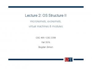 Lecture 2: OS Structure II