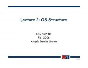Lecture 2: OS Structure