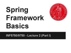 Lecture 2 (Part I)