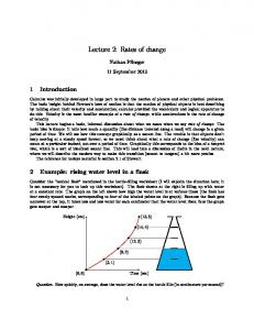 Lecture 2: Rates of change