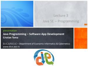 Lecture 3 Java SE Programming