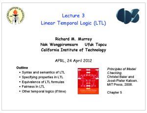 Lecture 3 Linear Temporal Logic (LTL)