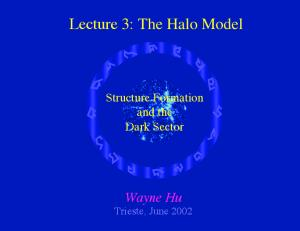 Lecture 3: The Halo Model