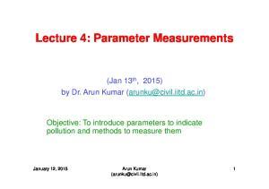 Lecture 4: Parameter Measurements