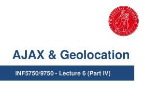 Lecture 6 (Part IV)