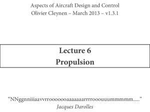 Lecture 6 Propulsion