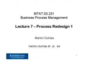 Lecture 7 Process Redesign 1