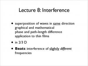 Lecture 8: Interference