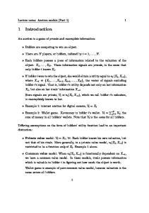 Lecture notes: Auction models (Part 1) 1