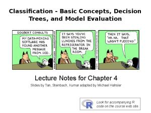 Lecture Notes for Chapter 4