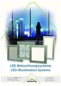 LED-Beleuchtungssysteme LED-Illumination Systems