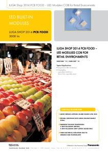 LED BUILT-IN MODULES. LUGA Shop 2014 PCB FOOD LED Modules COB for Retail Environments lm LUGA SHOP 2014 PCB FOOD