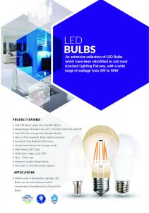LED BULBS PRODUCT FEATURES APPLICATIONS