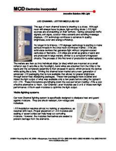 LED CHANNEL LETTER MODULES 101