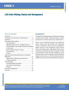 LED Color Mixing: Basics and Background