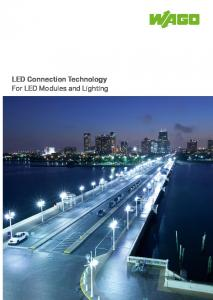 LED Connection Technology For LED Modules and Lighting