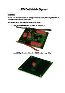 LED Dot Matrix System